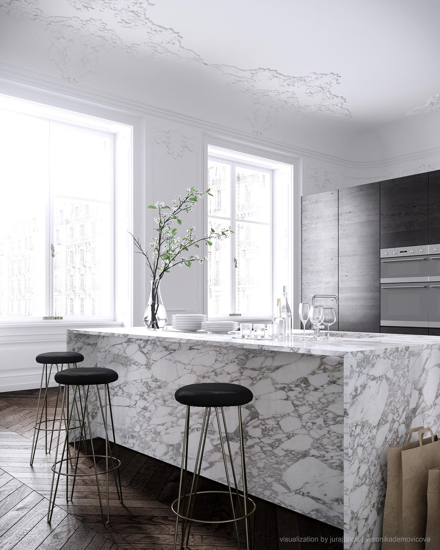 Showcase Paris Apartment Interior Design by Jessica Vedel