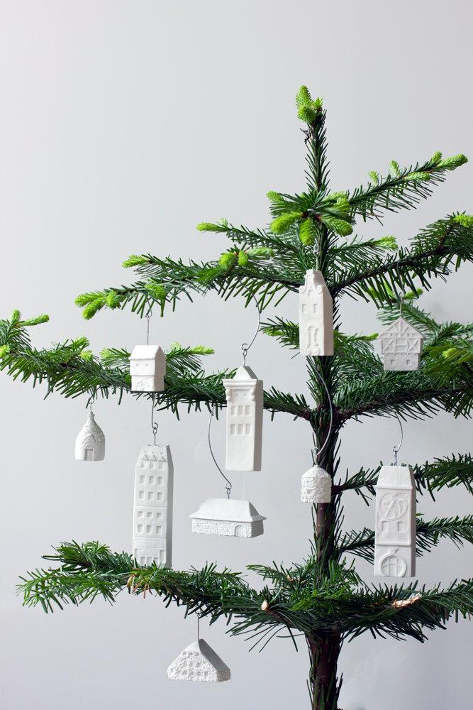 minimalist Kunst als Weihnachtsbaum Schmuck