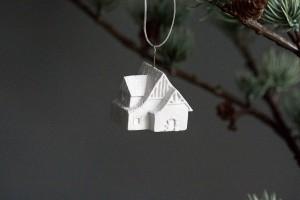 minimalist kunst als weighnachtsbaumschmuck