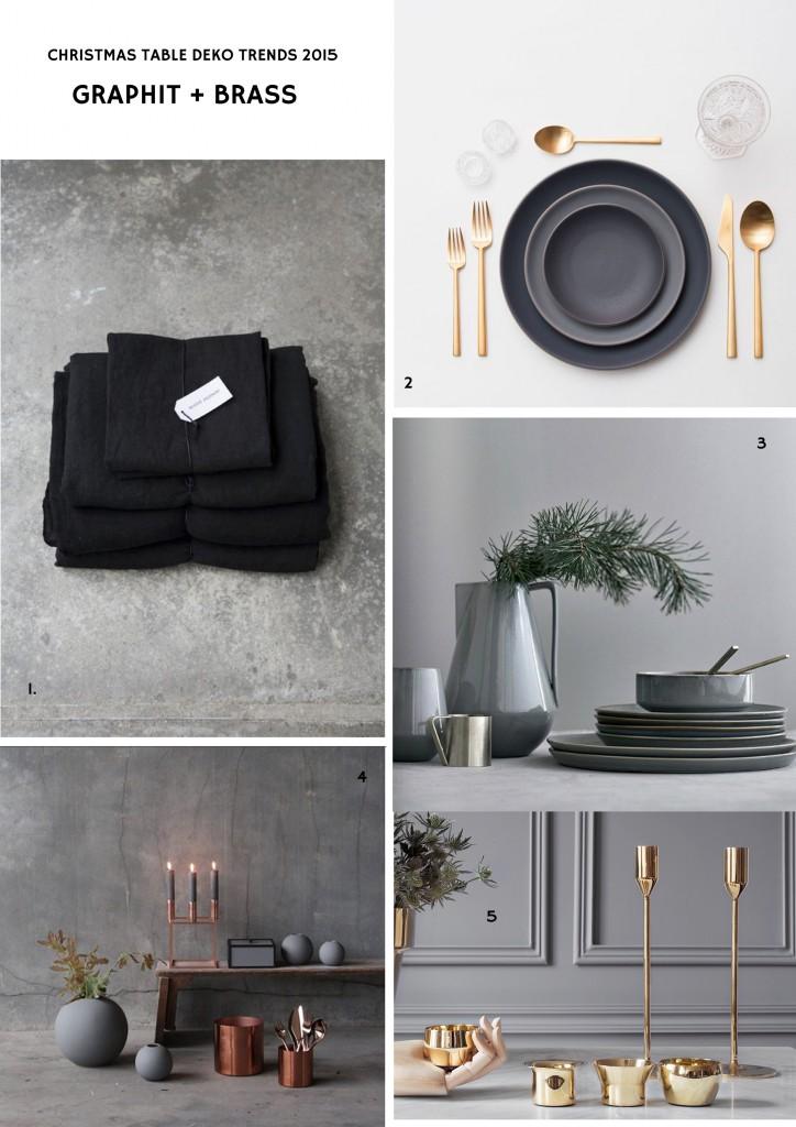 Christmas Table Deco Trend / Festdeko Trend