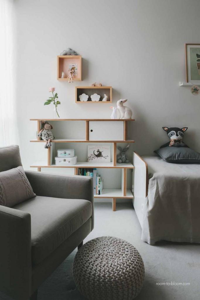 kids interior design modern twin nursery 1