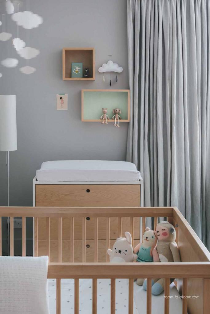 kids interior design modern twin nursery 3