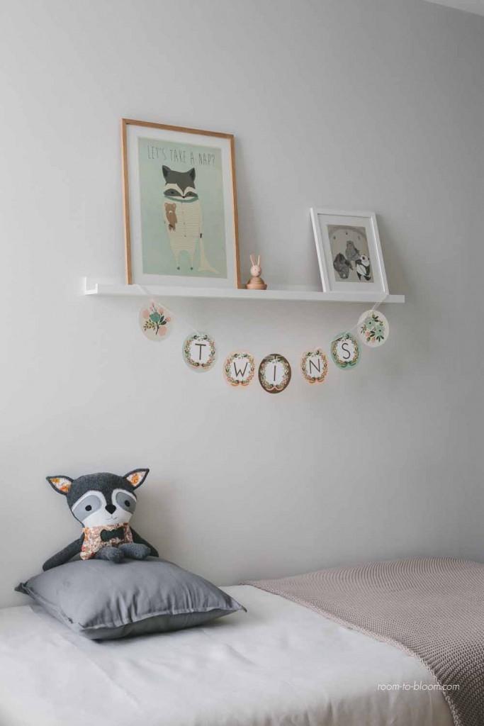 kids interior design modern twin nursery 5