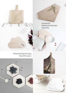 Handmade Minimalist nordic accessoires for the kitchen, design schneiderbrette