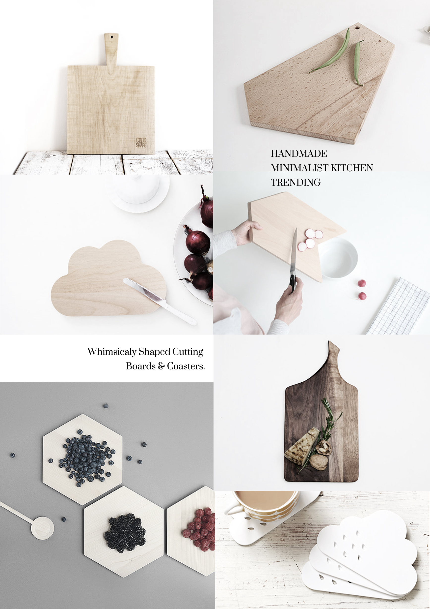 Handmade Minimalist nordic accessoires for the kitchen