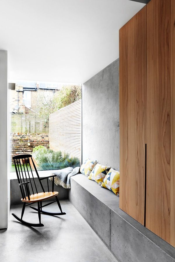 Warmth and minimalism with concrete