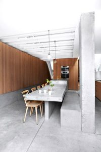 Interior design using concrete