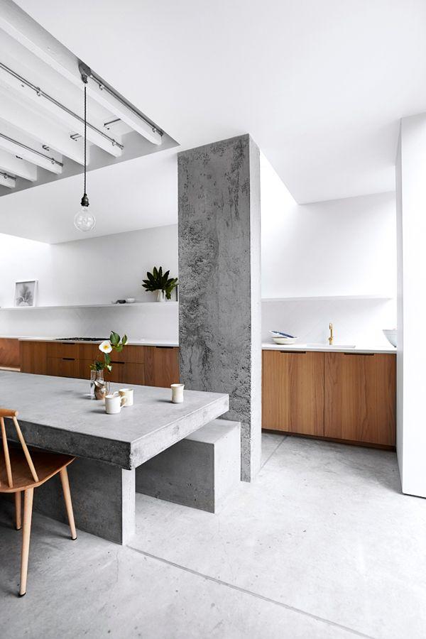 Interior design using concrete