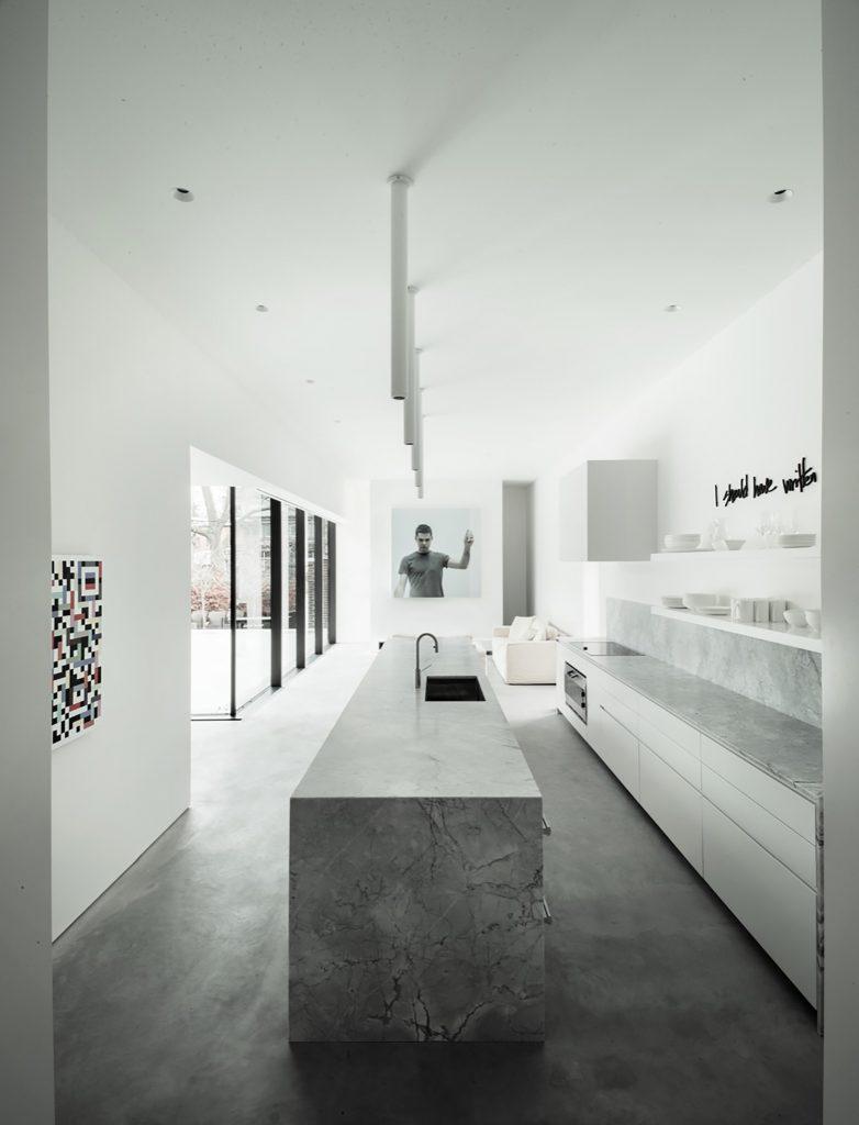 Betonküche minimalist