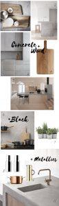 Betonlook in der Küche, Betonküche Designideen
