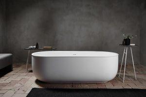 minimalist modern bathroom, Norm Architects, inbani, frei stehende badewanen, design badewanen