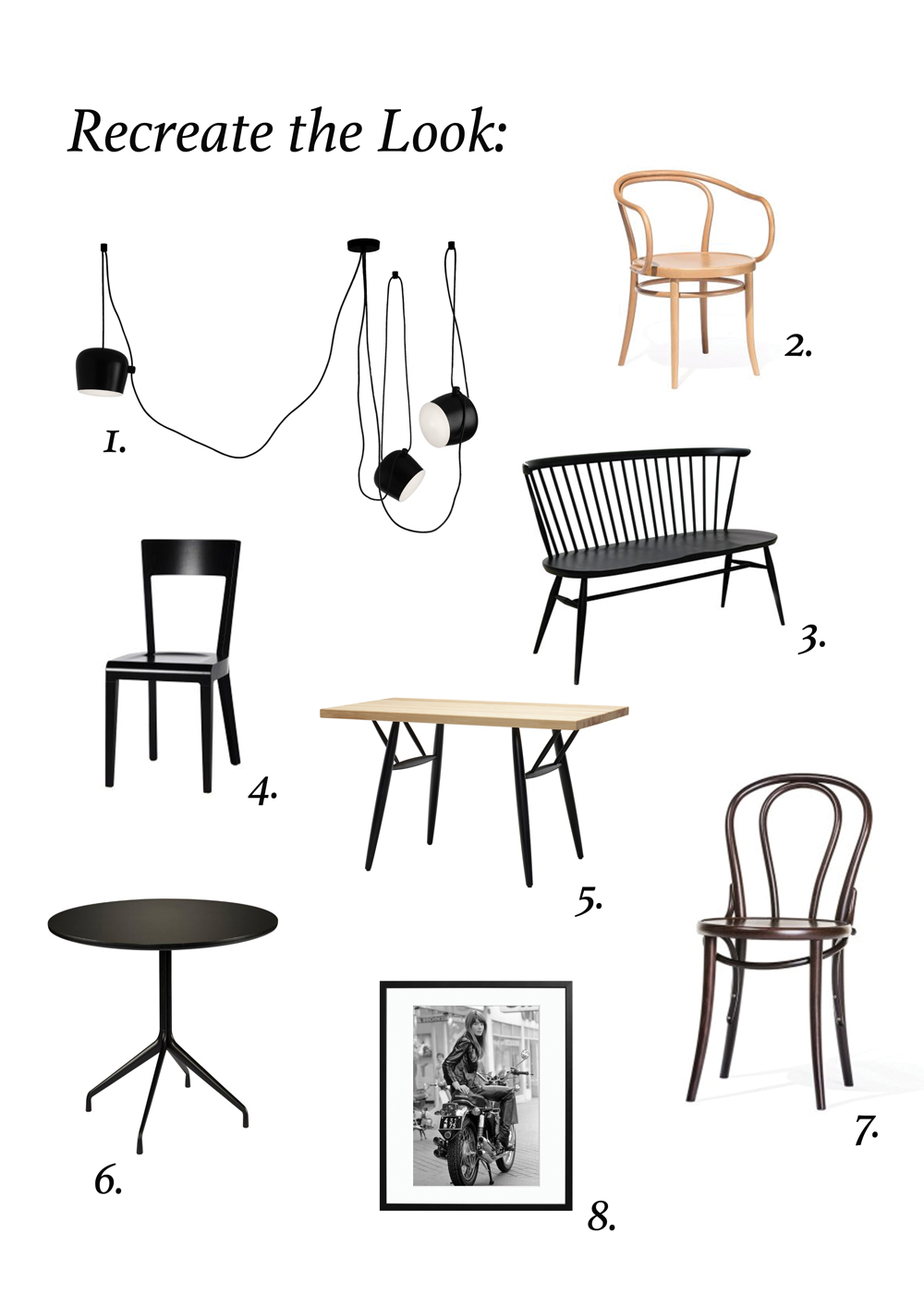 Recreate the look of a stylish coffee shop interior