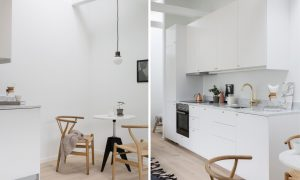 Interior design for a small living space – Apartment in Vasastan district of Stockholm