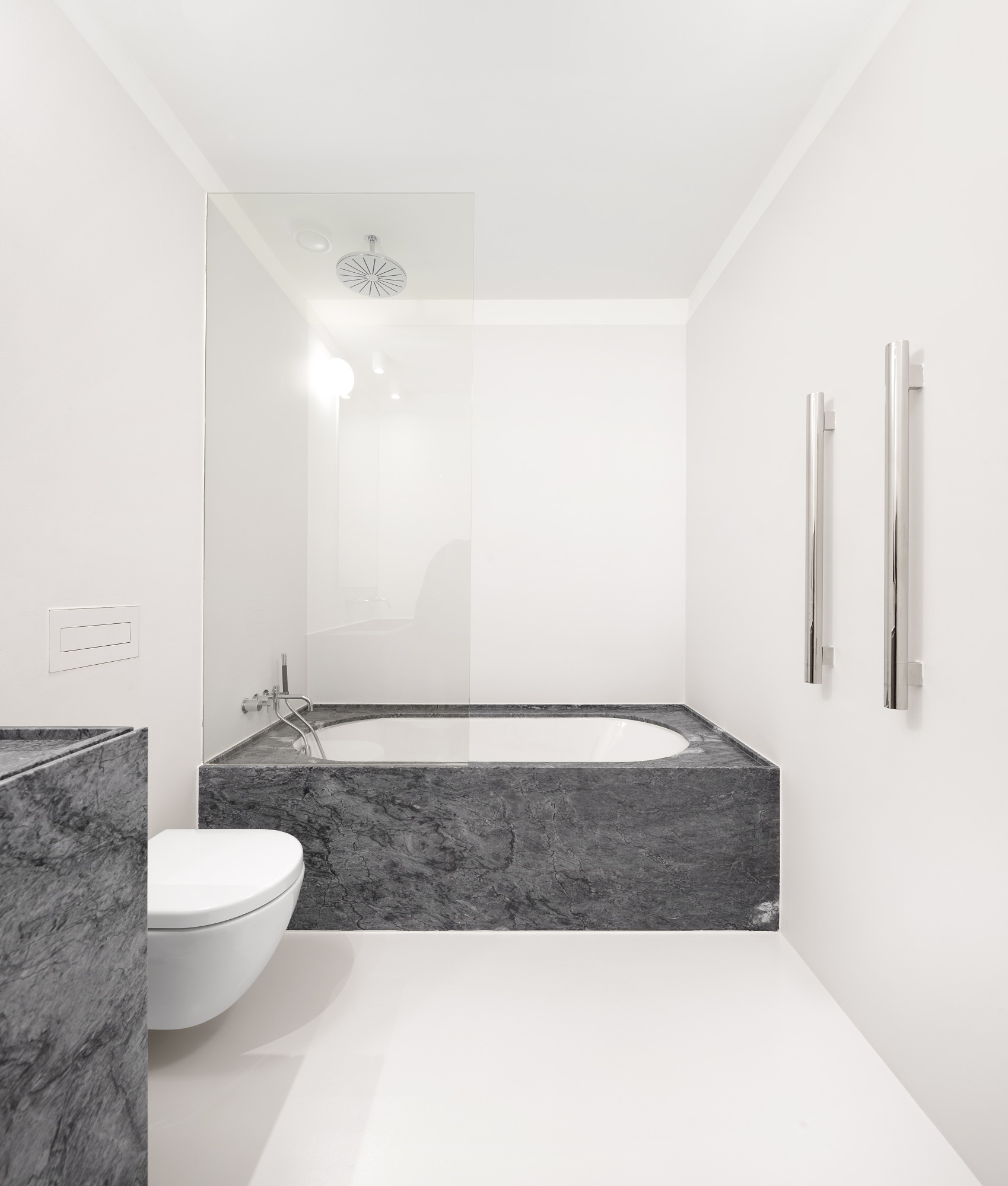 Apartment AMC, Rar.Studio, Marble Bathroom Design