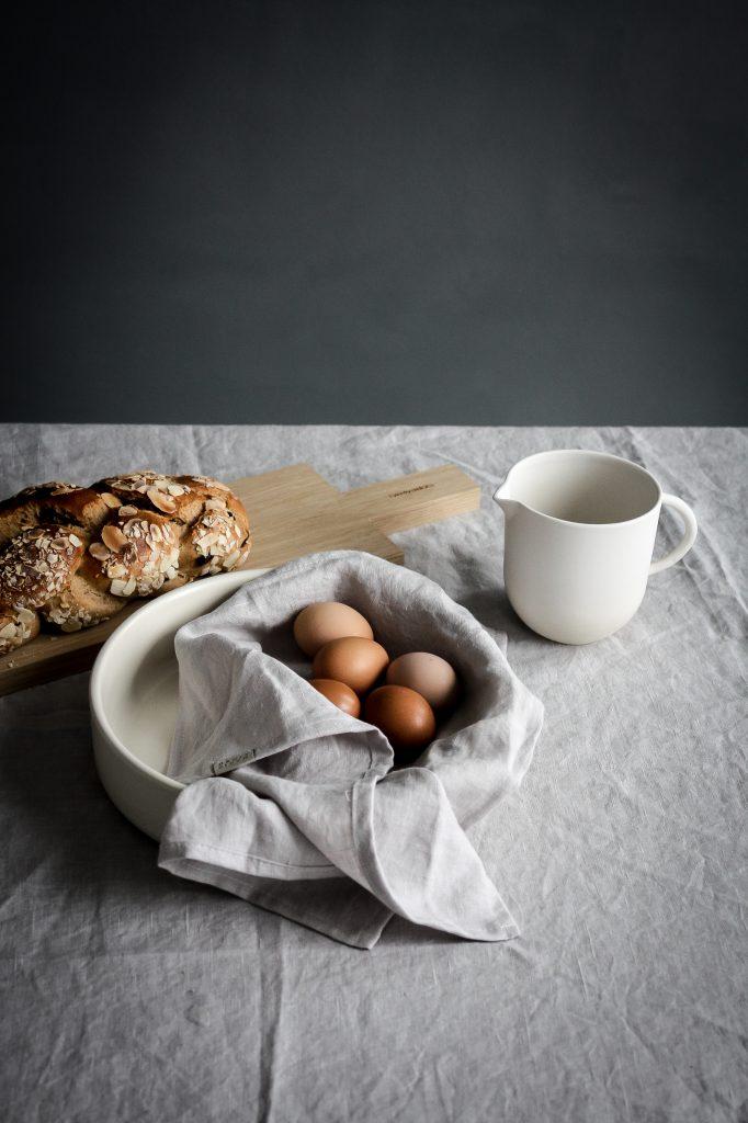 Easter Brunch table setting - celebrating nature and serene minimalism
