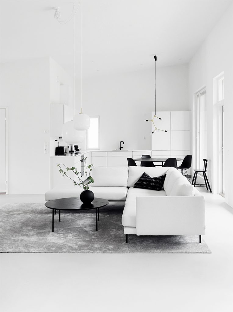 Home Tour #1 Monochrome Minimalist Family Home in Espoo Finland