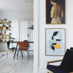 Scandinavian interior, copenhagen appartient, mixing old and new interior