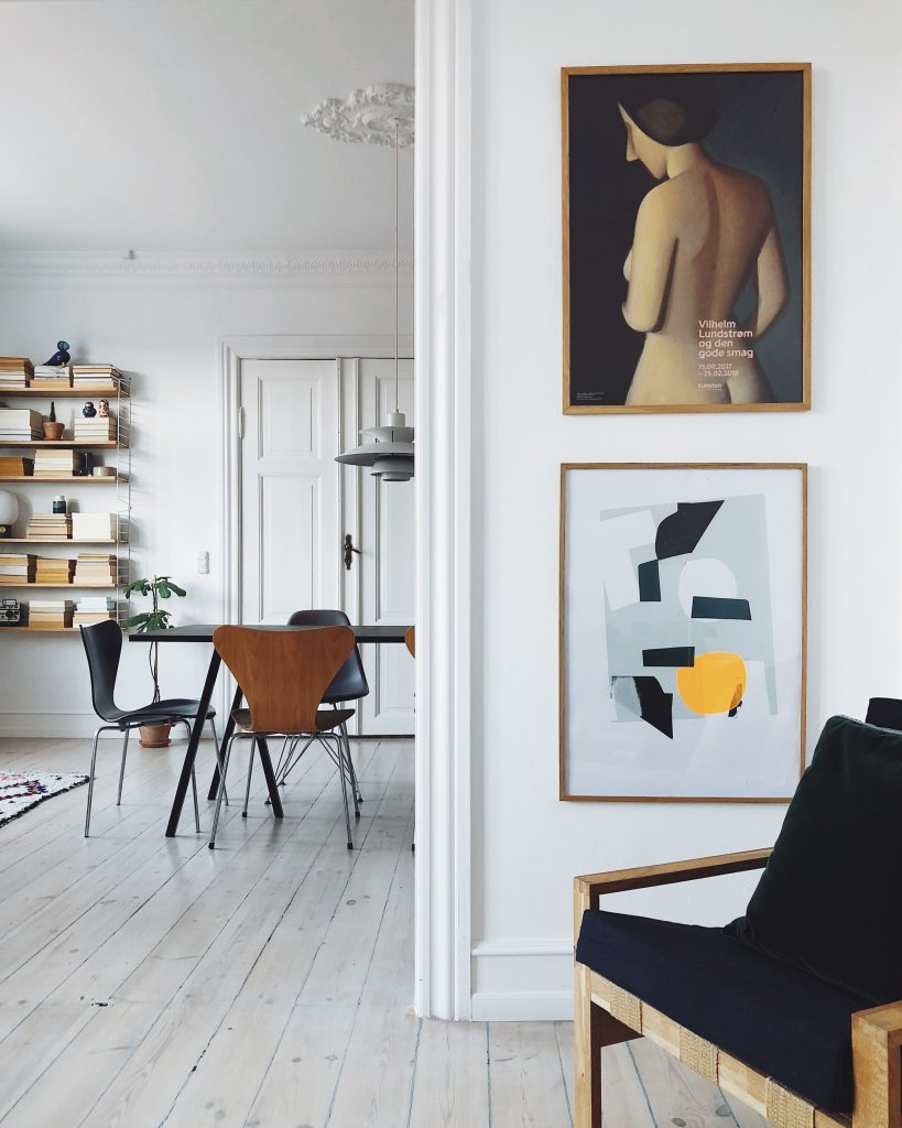 An interior mix of vintage, classic and modern styles – Copenhagen Apartment home tour