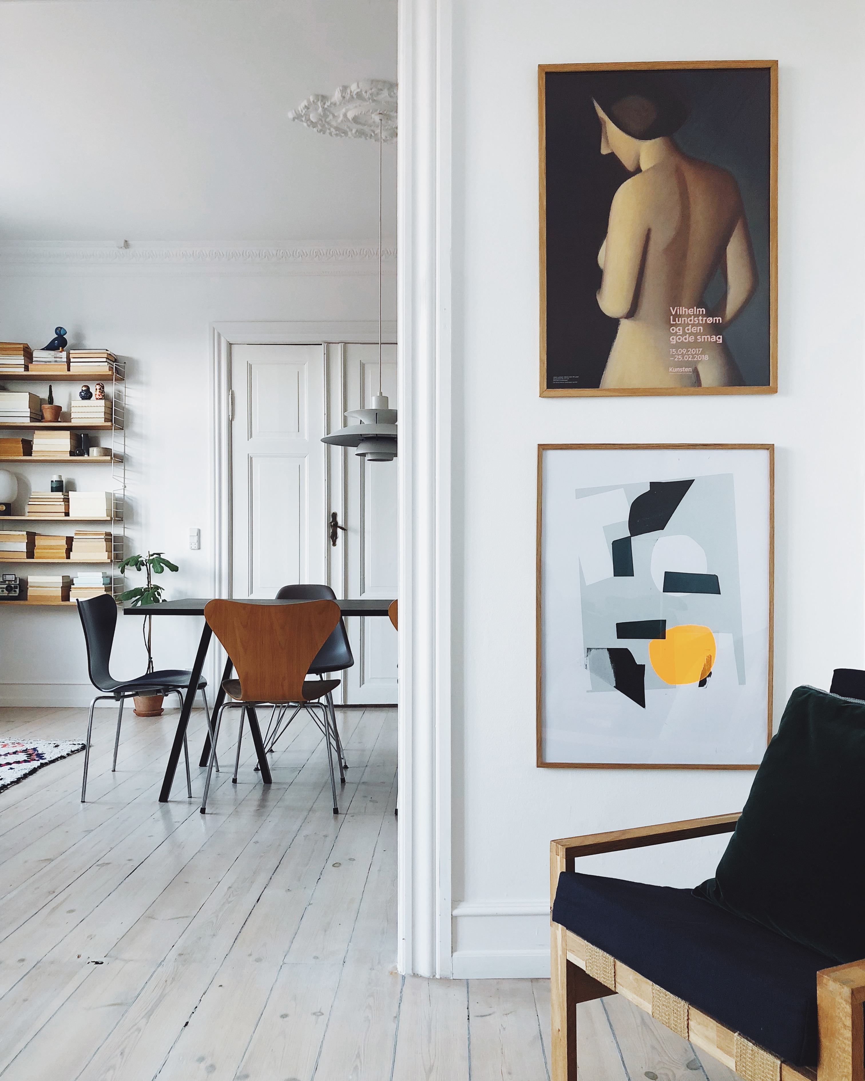 An interior mix of vintage, classic and modern styles - Copenhagen