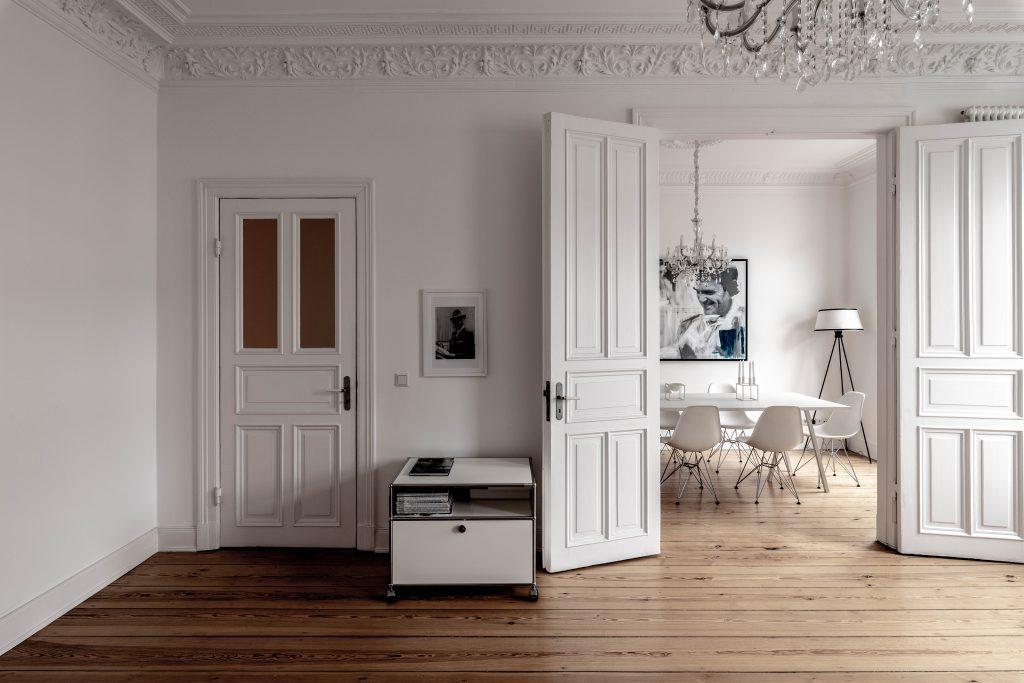 Nordic Design in a Jugendstil Era apartment in St. Georg, Hamburg