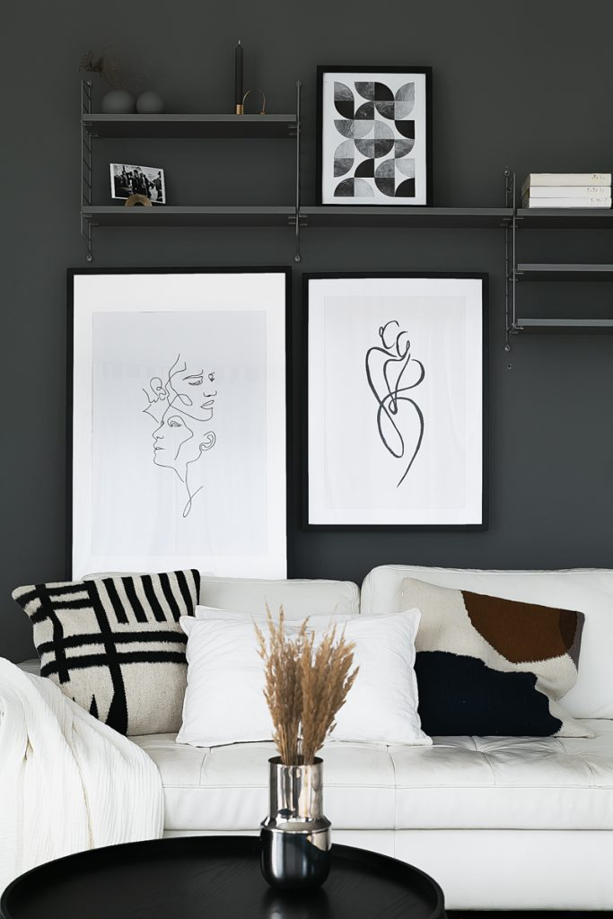Creating an interior atmosphere with art prints