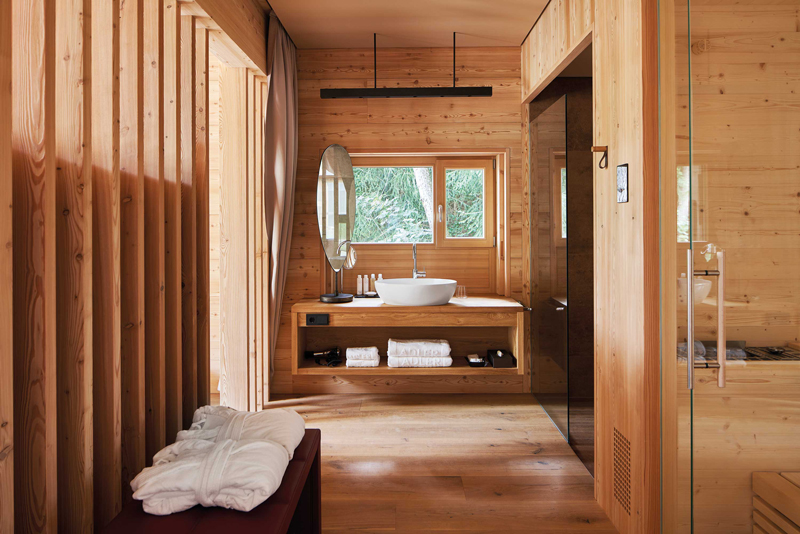 Bathroom Adler Ritten Alpine Eco-hotel