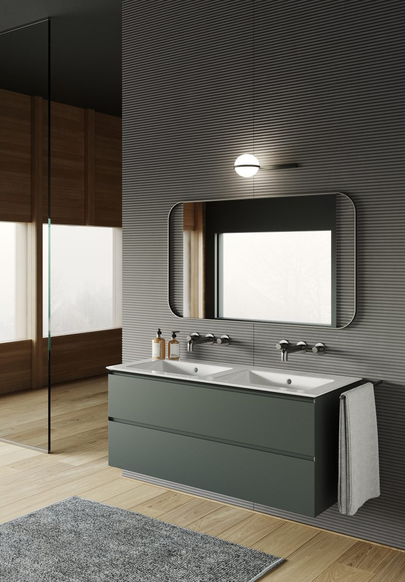 Natural colours for creating a wellness bathroom