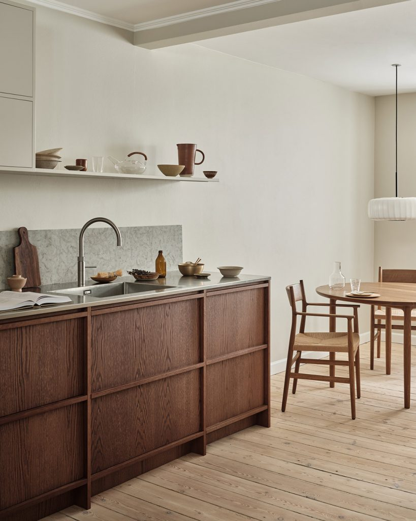 Nordic Kitchen in Architect's townhouse in Copenhagen