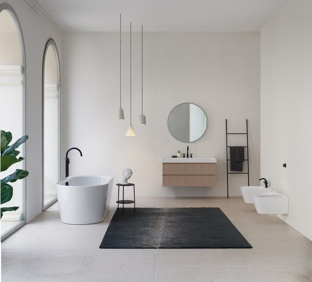 Out of the ordinary minimalist bathroom furnishings – GSI new Nubes collection